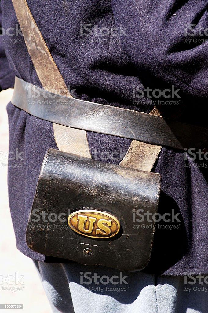 Civil war uniform detail 1 royalty-free stock photo