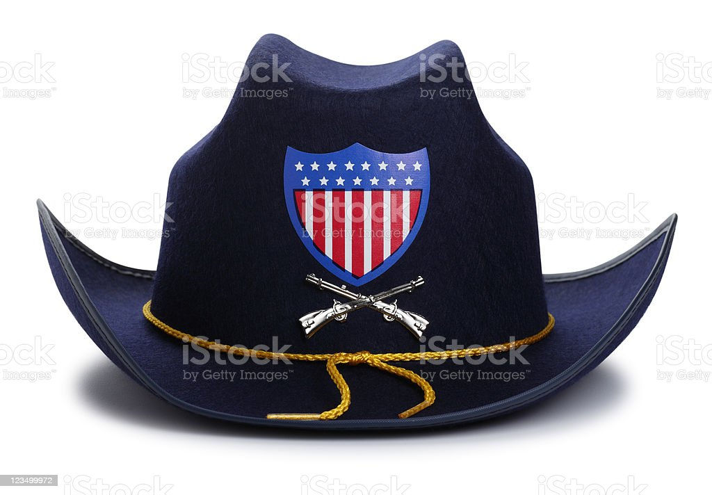 Civil War Union Hat Isolated on White stock photo