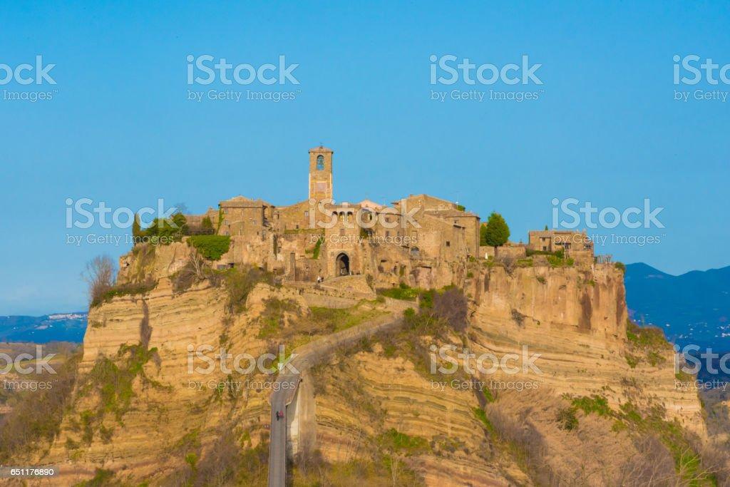 Civita di Bagnoregio (Viterbo, Lazio), central Italy - 'The town that is dying' stock photo