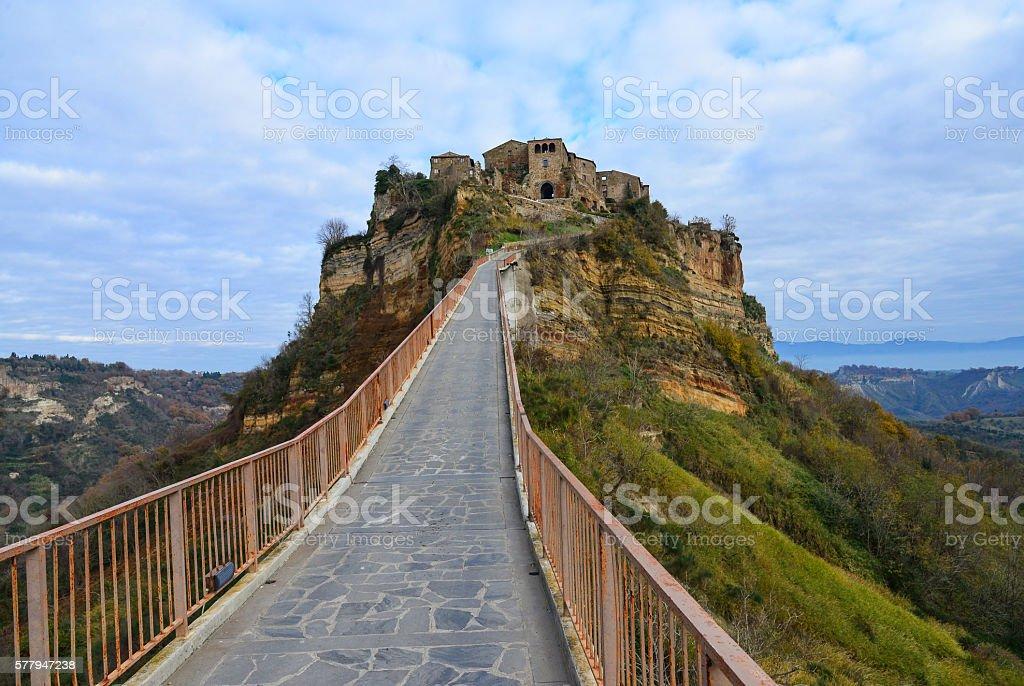 Civita di Bagnoregio (Viterbo, Italy) stock photo