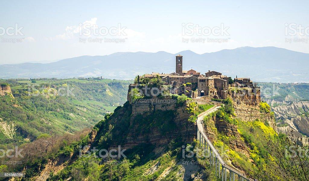 Civita di Bagnorezio - Lazio landscape - viterbo (italy) stock photo