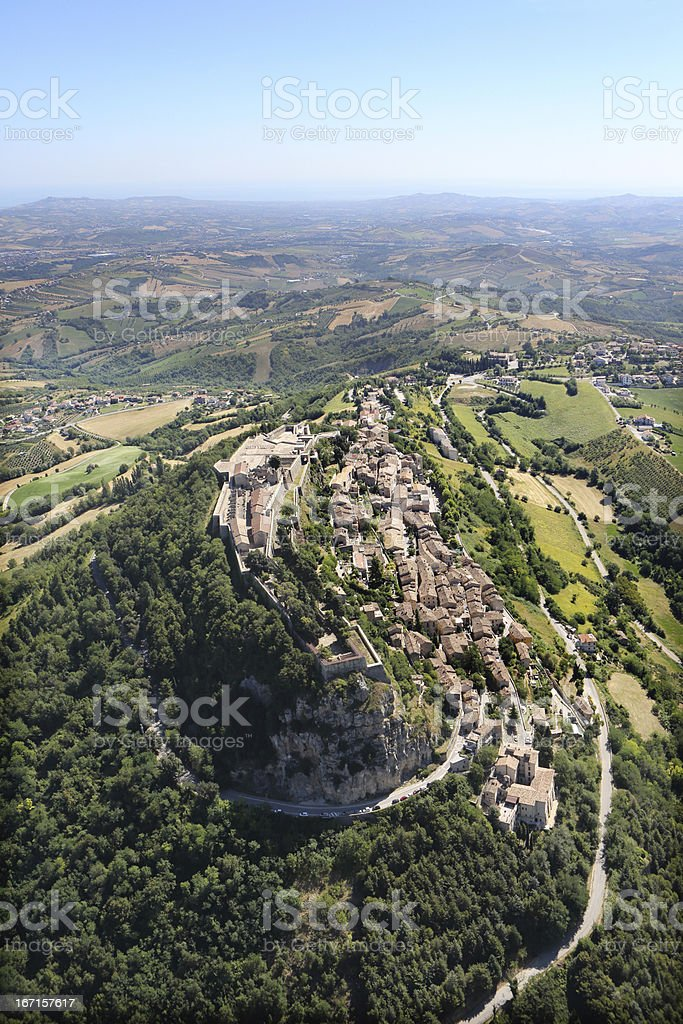 Civitella del Tronto royalty-free stock photo