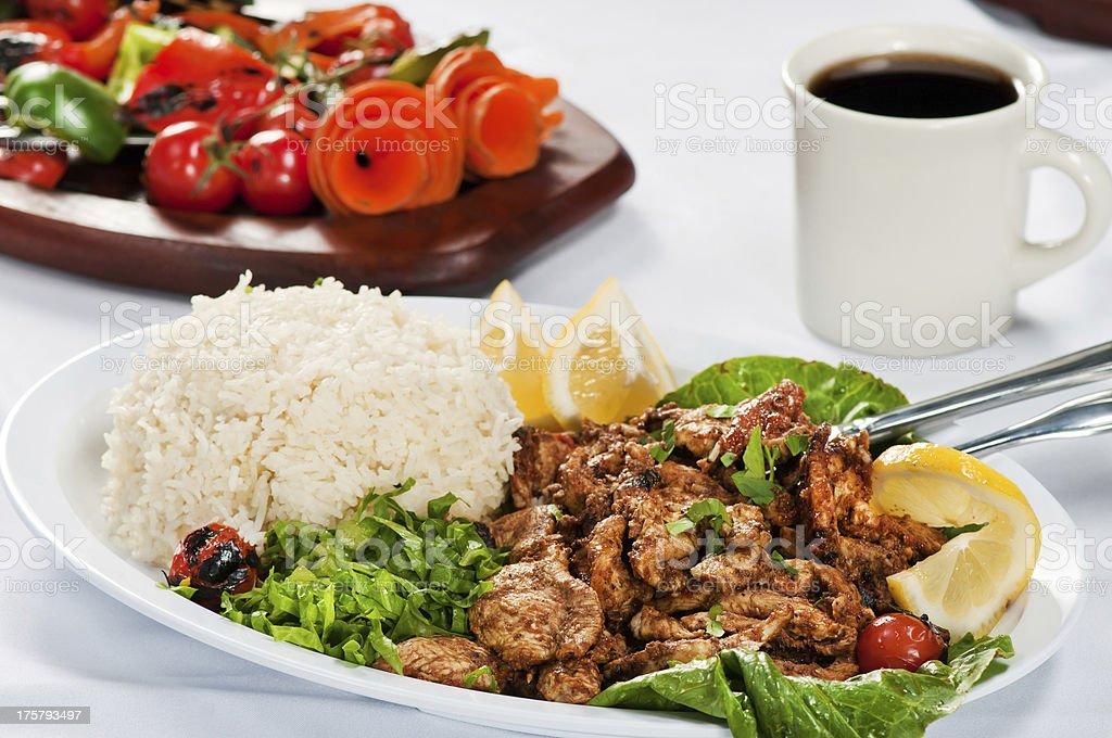 ckicken with rice cuisine stock photo