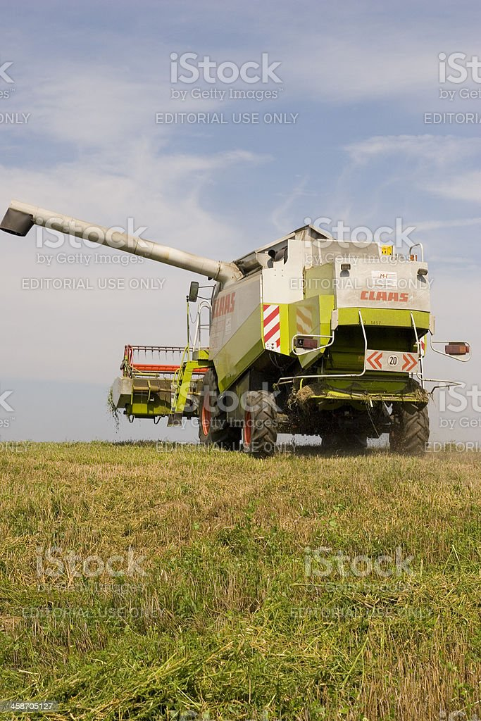 Claas Lexion Combine Harvester royalty-free stock photo