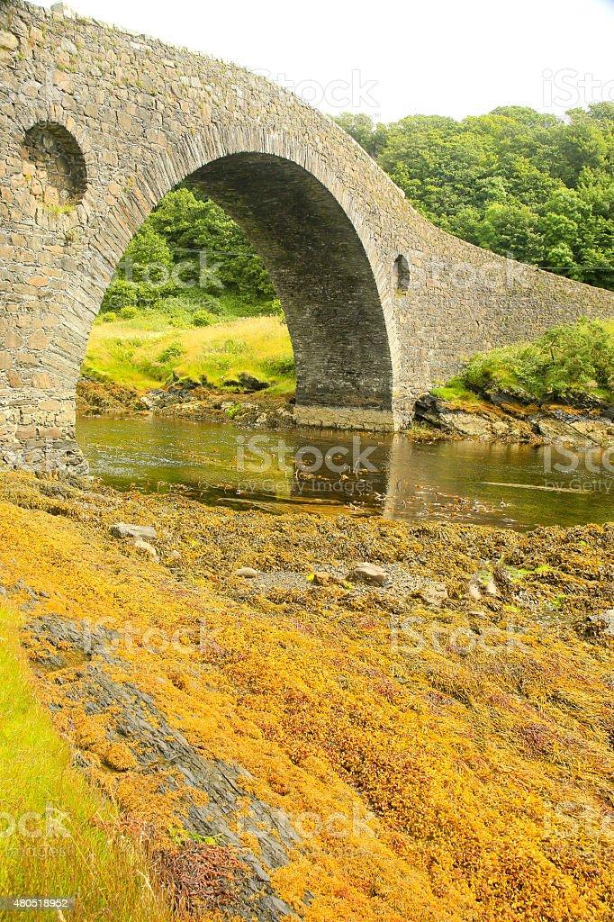 Clachan Bridge, Isle of Seil, Scotland, UK. stock photo