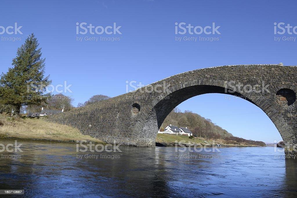 Clachan(Atlantic) Bridge stock photo