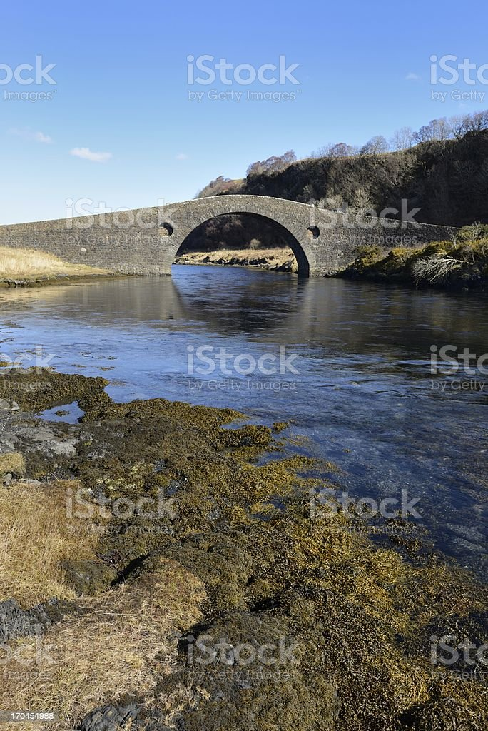 Clachan Bridge portrait royalty-free stock photo