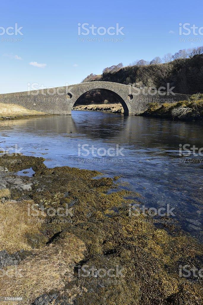 Clachan Bridge portrait stock photo