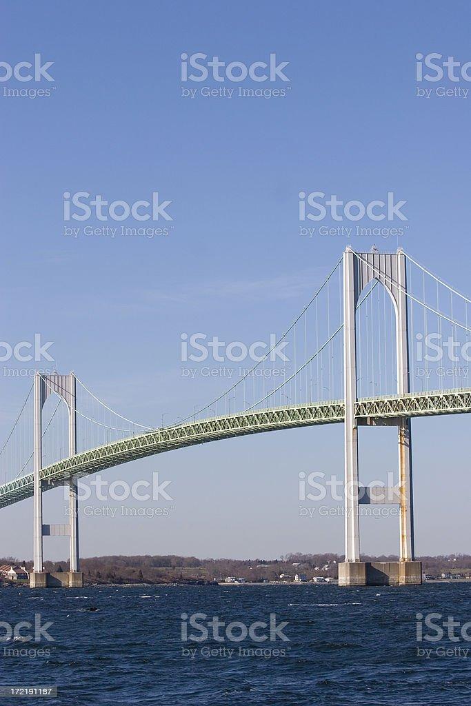 Claiborne Pell Bridge, Newport, RI royalty-free stock photo
