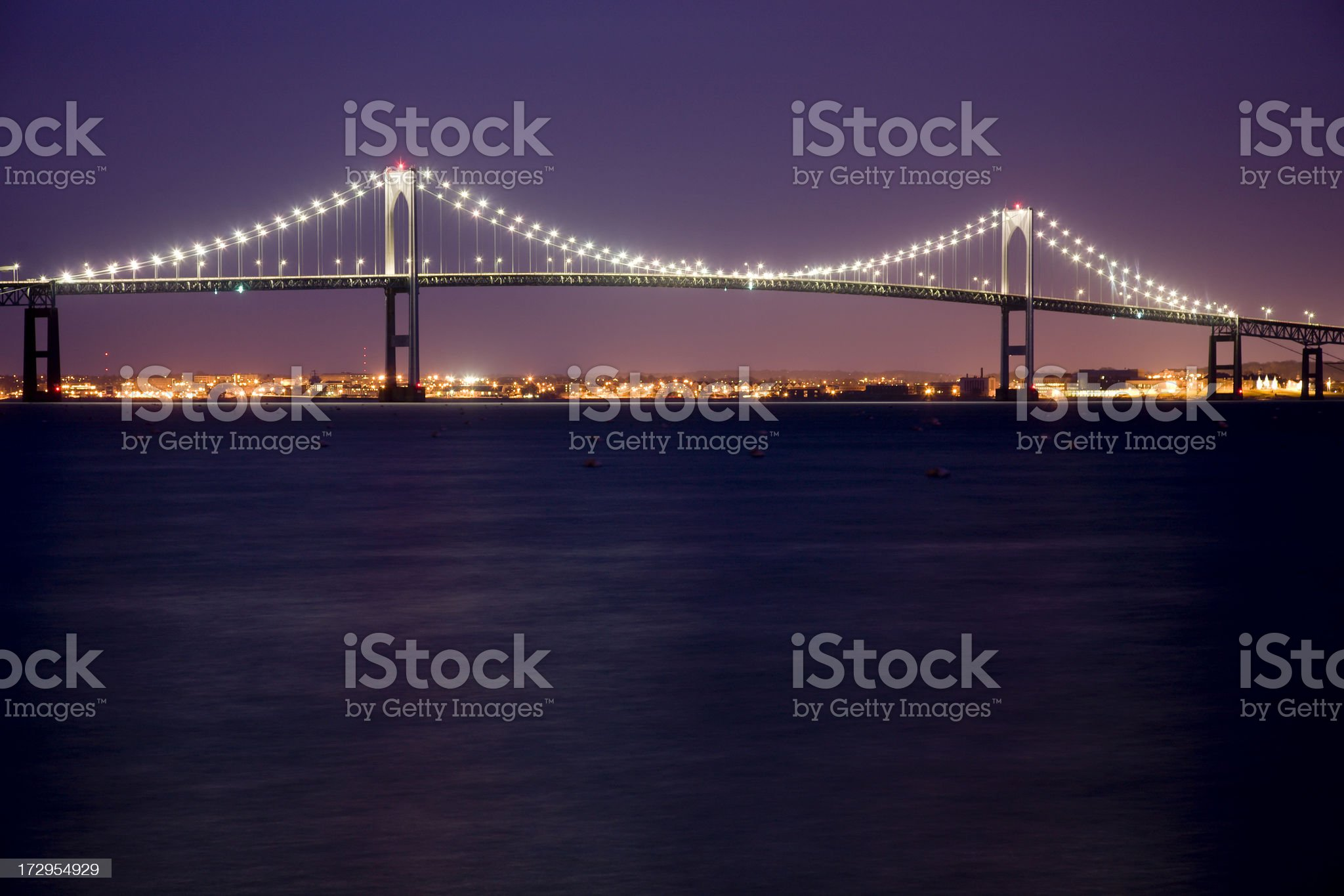 Claiborne Pell Bridge royalty-free stock photo