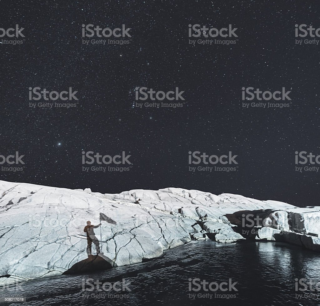 Claiming A Planet stock photo