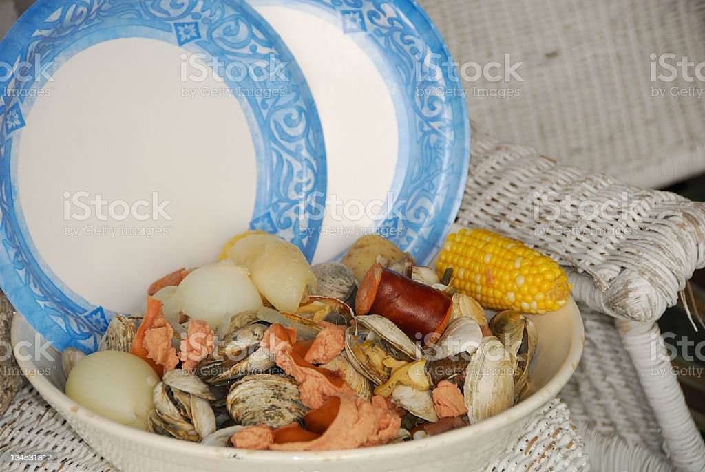 Clam Boil stock photo