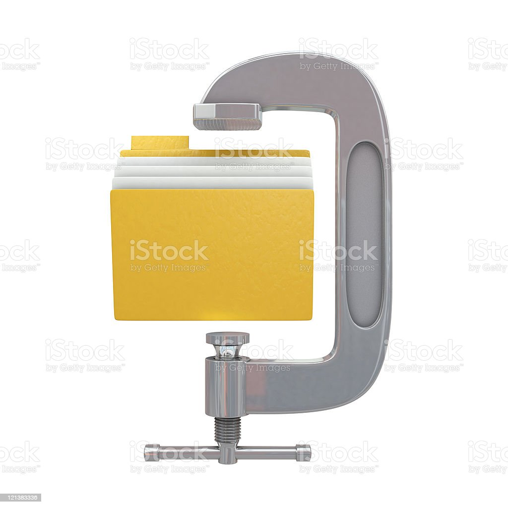 G clamp and folder royalty-free stock photo