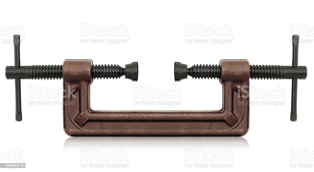 C clamp stock photo