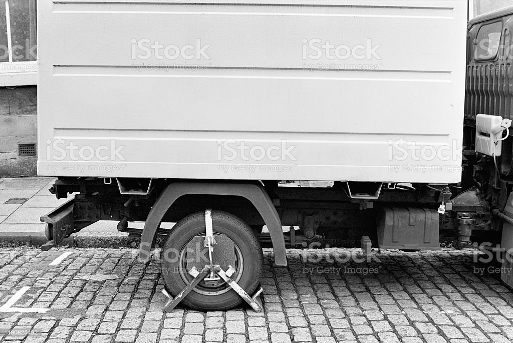Clamped van, immobilized - Fined stock photo