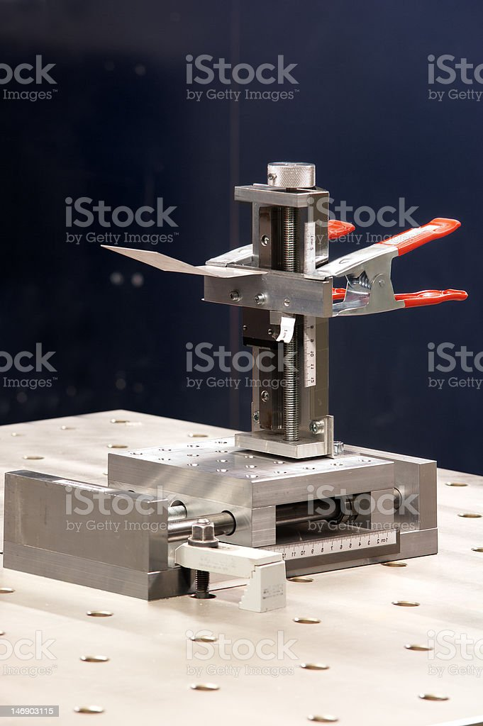 Clamping royalty-free stock photo