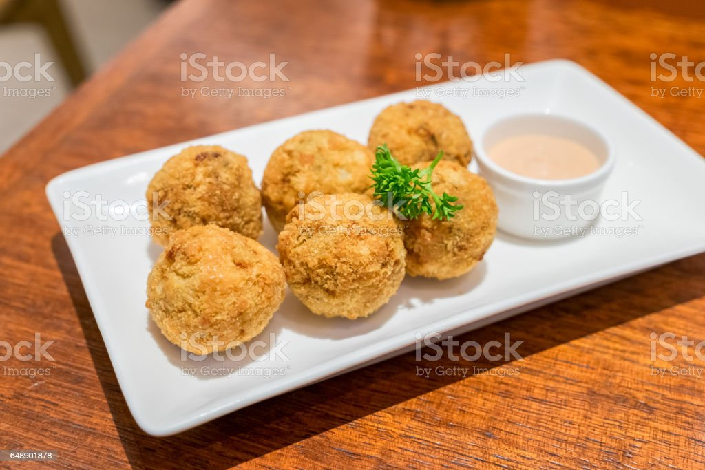 Clams cheese ball bake cooked stock photo