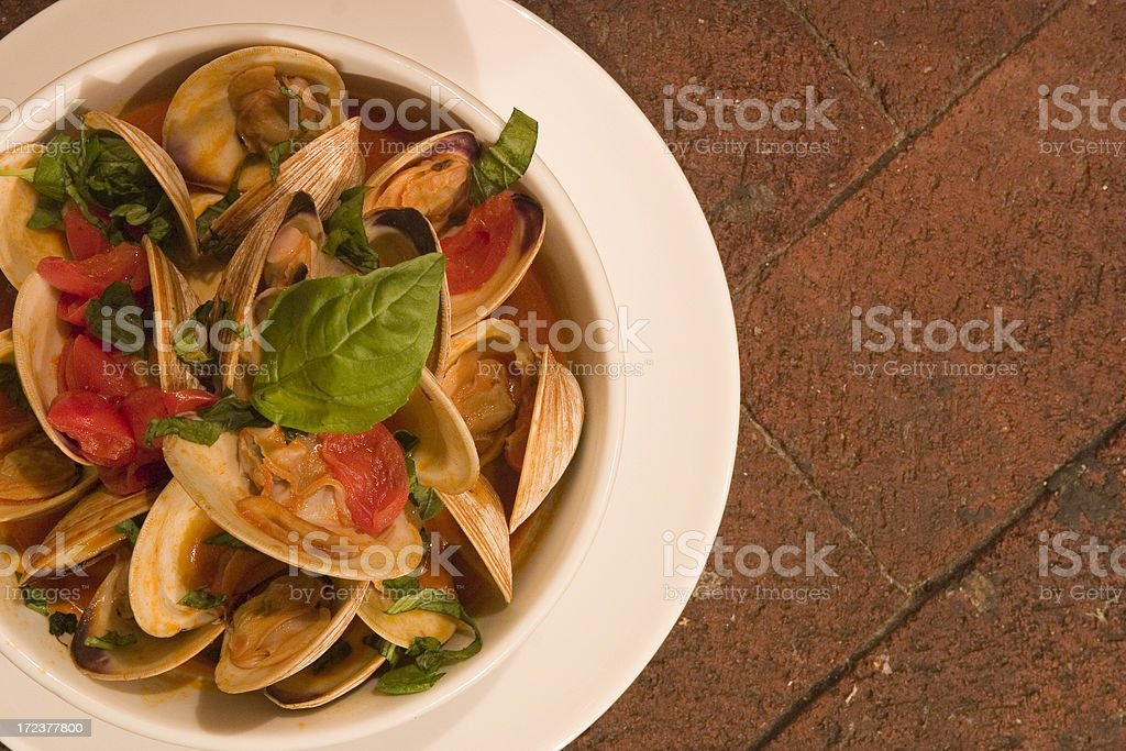 Clams in a Bowl royalty-free stock photo