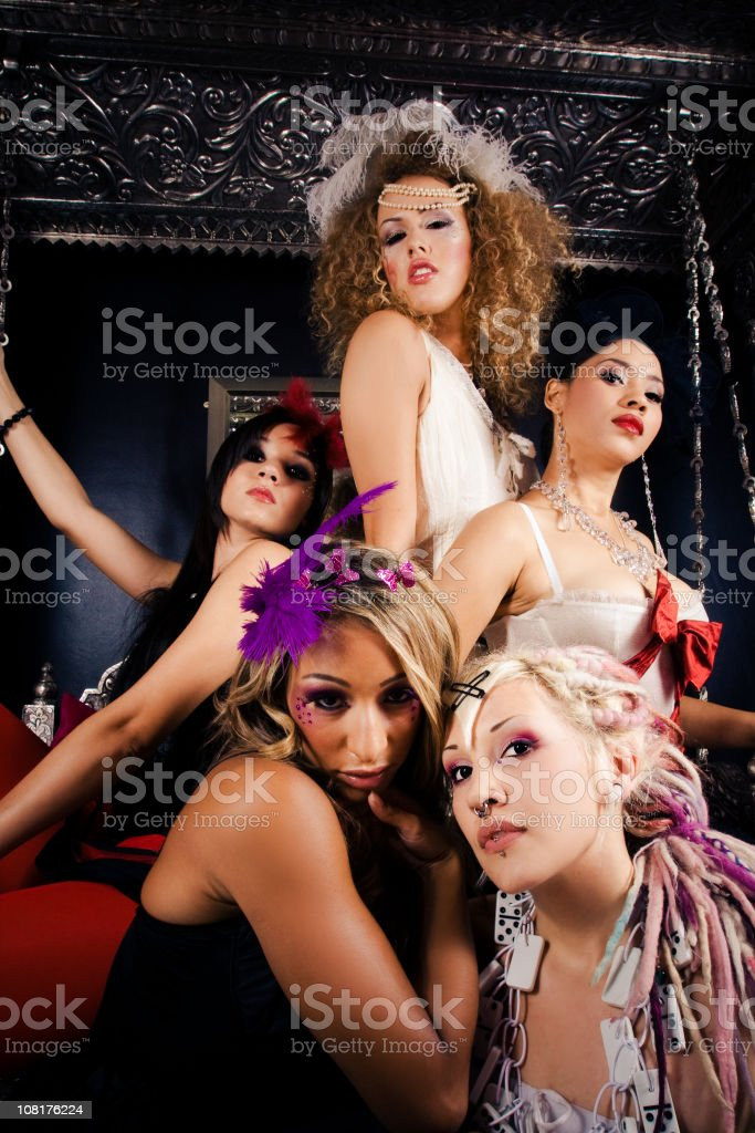 Clan of five royalty-free stock photo