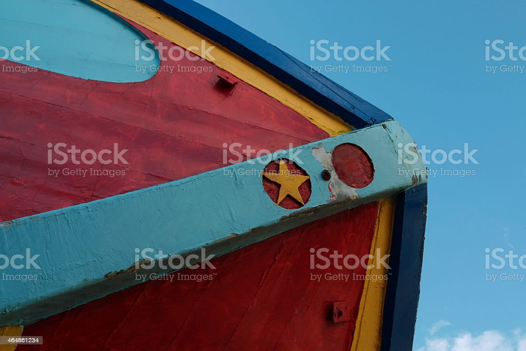 Clandestine transport migrants boat stock photo