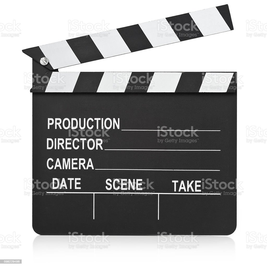 Clapboard/Clapperboard stock photo