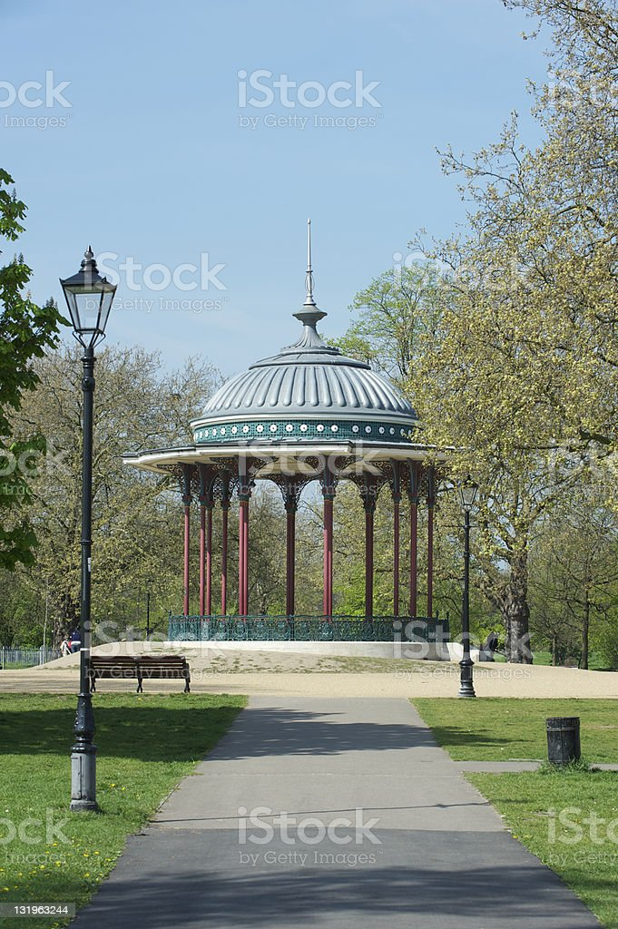 Clapham Common bandstand stock photo