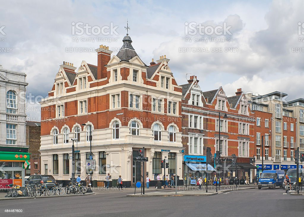 Clapham High Street in London, England stock photo