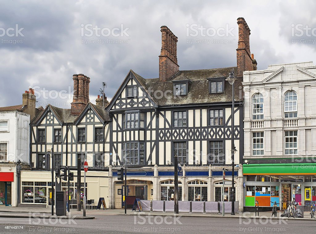Clapham High Street  in London stock photo