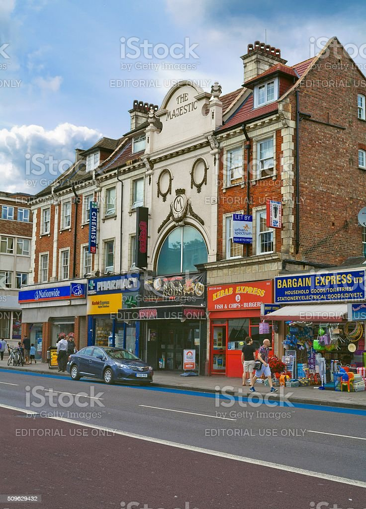 Clapham High Street in London, United Kingdom stock photo