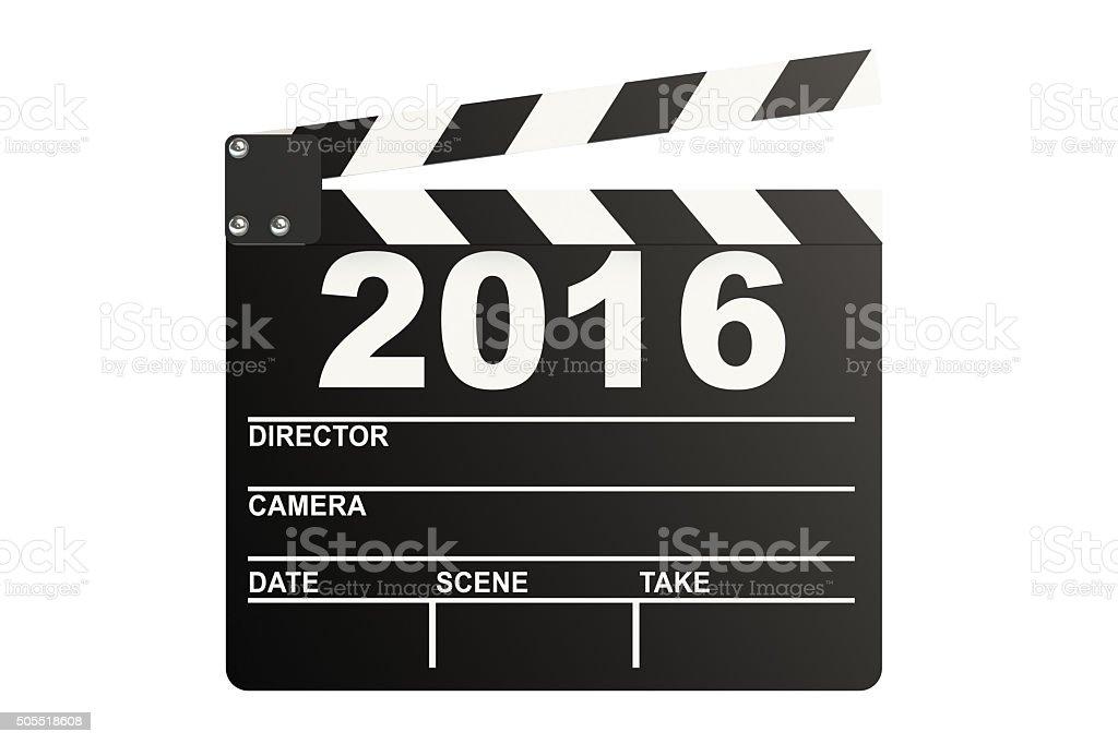 Clapper board 2016 stock photo