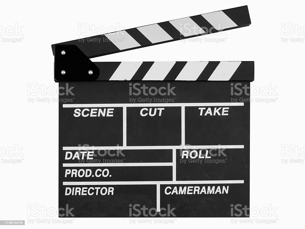 Clapper Board In Open Position royalty-free stock photo
