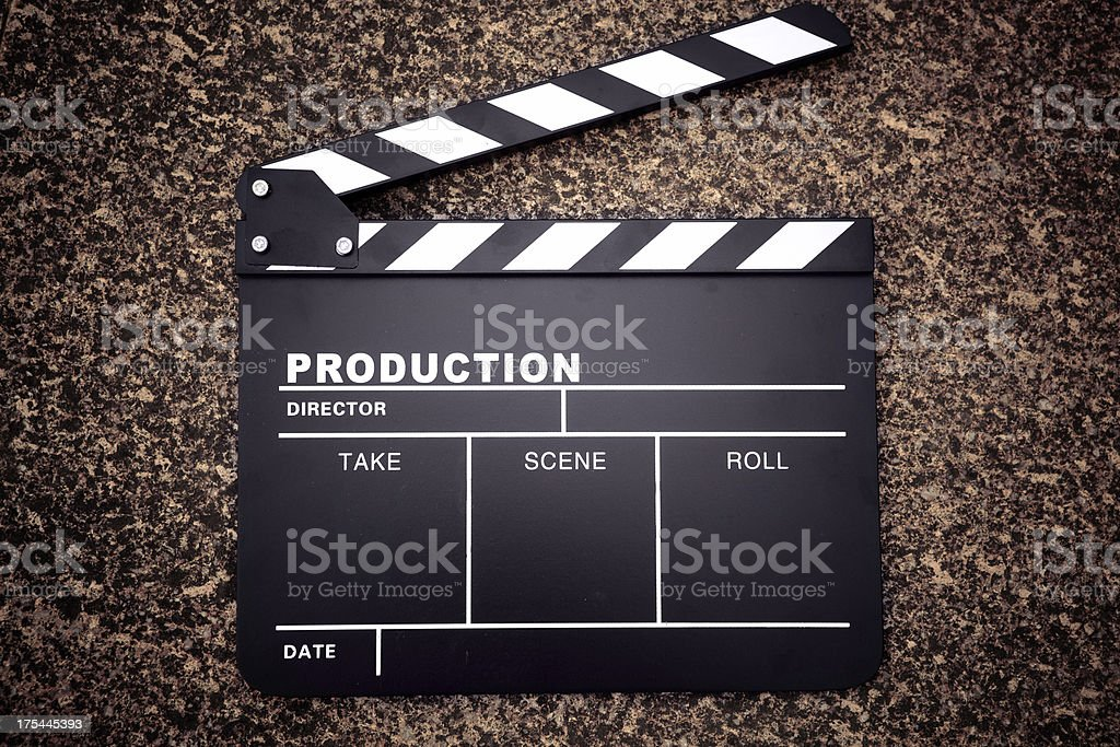 clapper board royalty-free stock photo