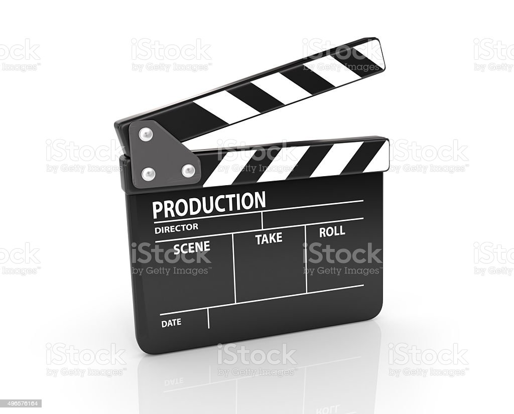 Clapper board stock photo