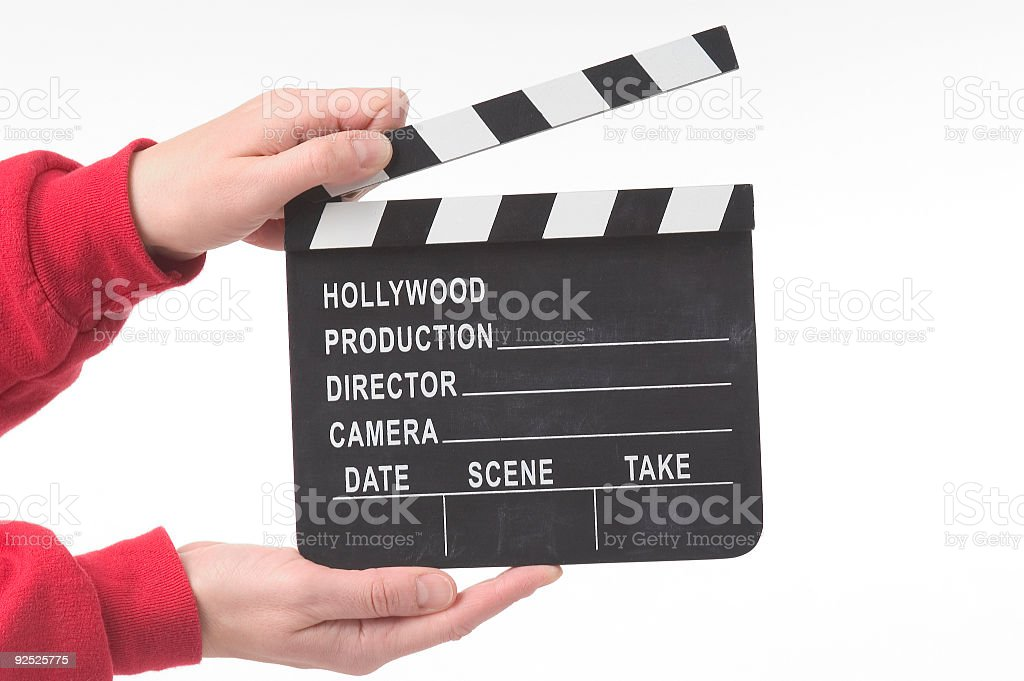clapper royalty-free stock photo