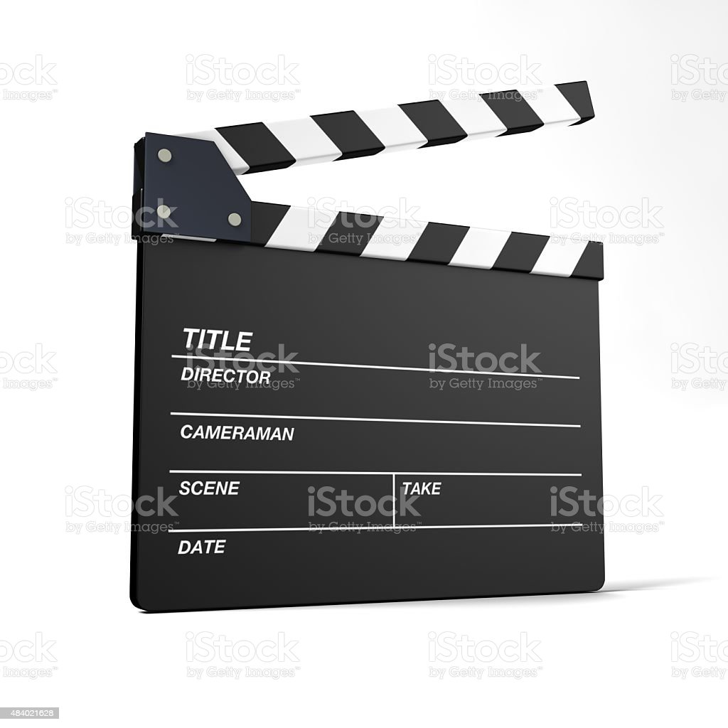 clapperboard euro has been printed stock photo