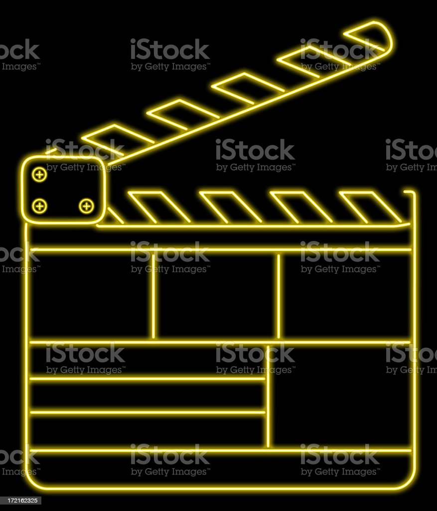 Clapperboard Neon stock photo