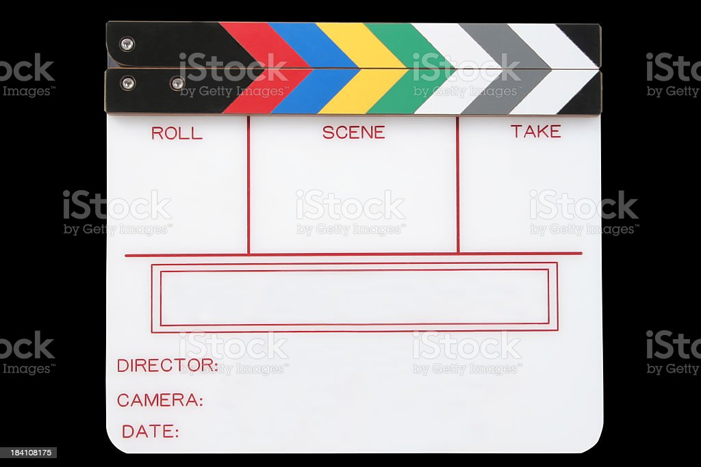 Clapperboard royalty-free stock photo