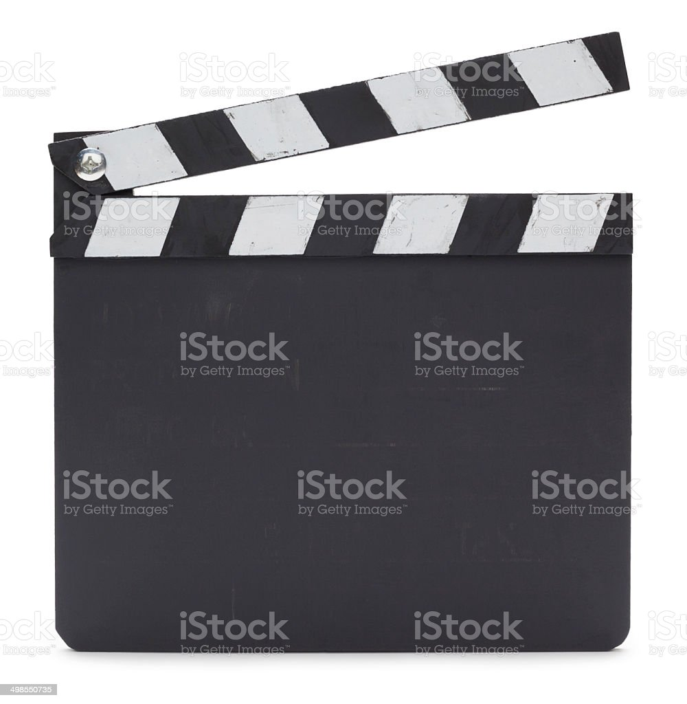 Clapperboard stock photo