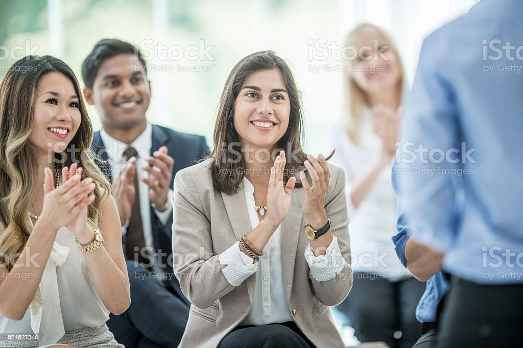 Clapping After a Presentation stock photo