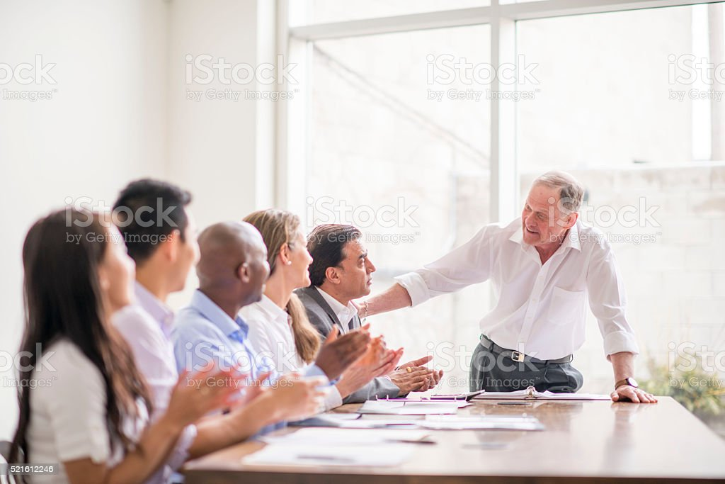 Clapping After a Speech stock photo