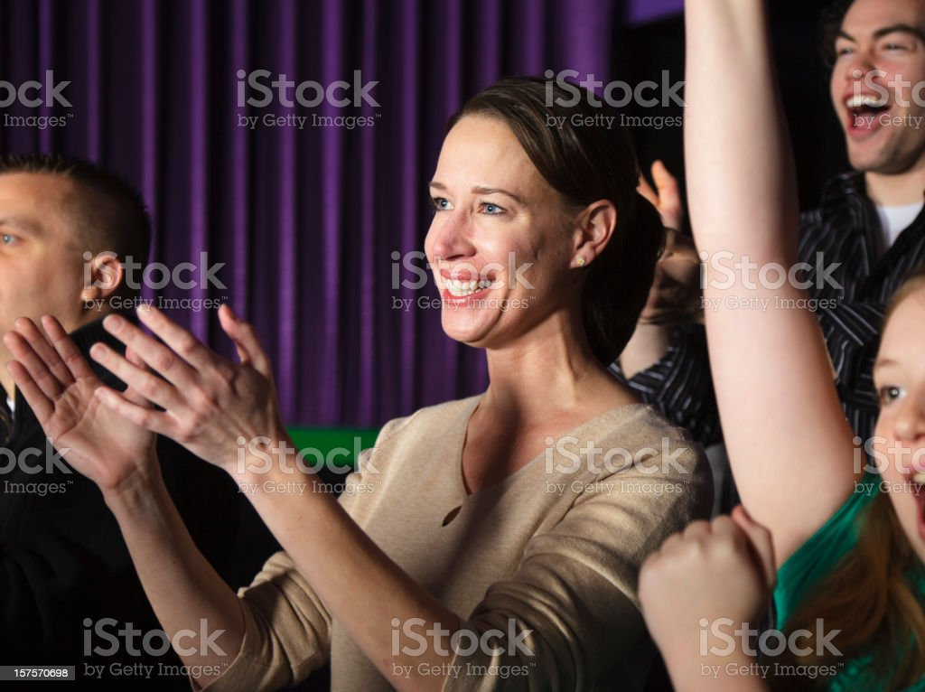 Clapping Audience Members royalty-free stock photo