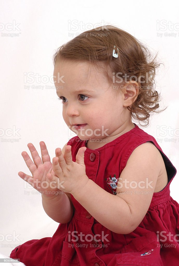 Clapping Baby royalty-free stock photo