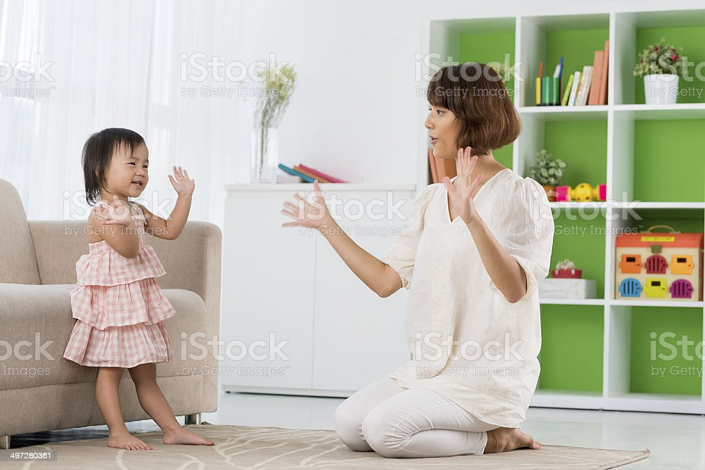 Clapping game stock photo