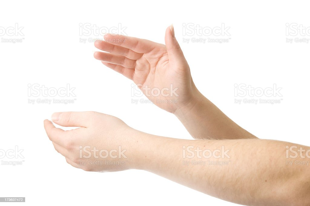 Clapping Hands Apart royalty-free stock photo