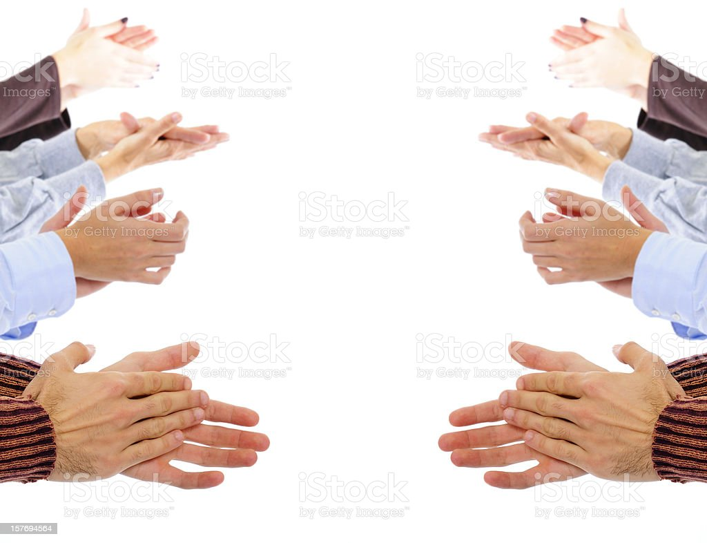 Clapping Hands.Copyspace. royalty-free stock photo