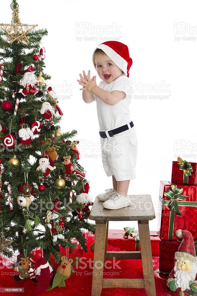 Clapping Santa royalty-free stock photo