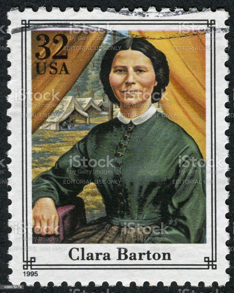 Clara Barton Stamp stock photo