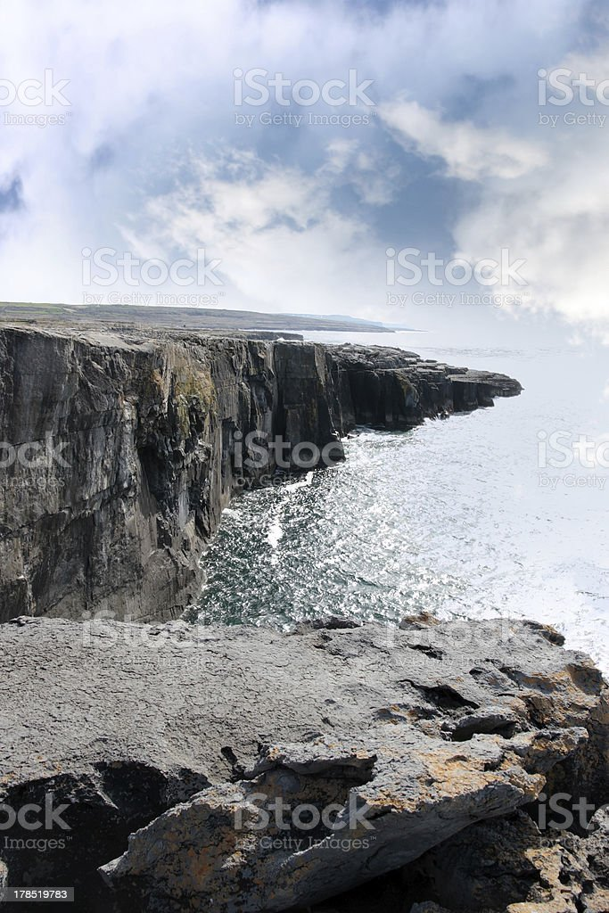 clare cliff edge view royalty-free stock photo