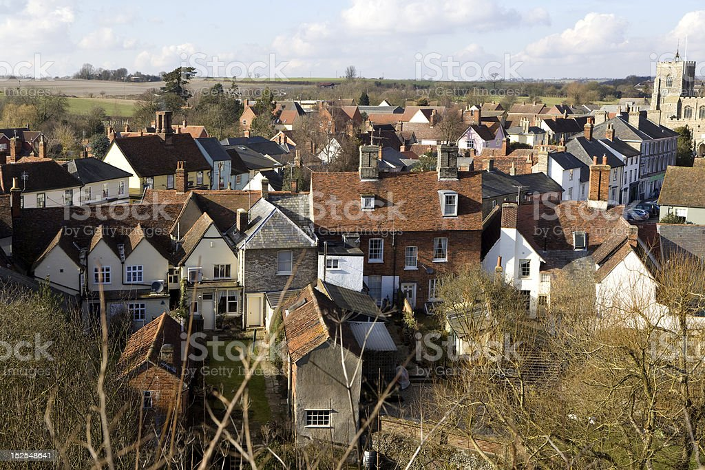 Clare, Suffolk. England royalty-free stock photo