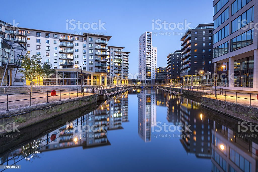 Clarence Dock, Leeds, England stock photo